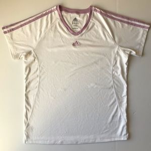 Adidas Active 360 V-Neck T-shirt {B10}